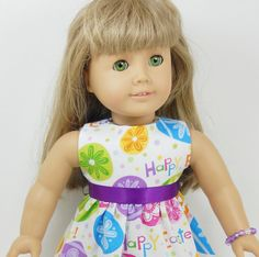 American Girl ish18 Doll Easter Dress Multi Color by MegOriGirls