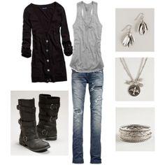 Comfy, black and grey