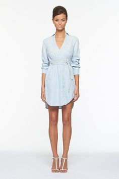 Just got this DVF light-washed denim wrap dress! Cannot wait to rock it!