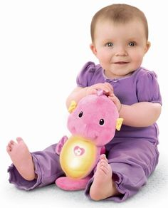 Fisher-Price Ocean Wonders Soothe and Glow Seahorse, Pink. Recommended age: 6 months - 3 years.