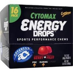 Buy more save more live more! CYTOSPORT Cytomax Energy Drops - Sports Performance Chews in16 pck better qual #CYTOSPORTCytomax