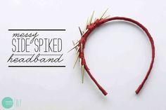 DIY Messy Side-Spiked Headband @ mintedstrawberry.blogspot.com