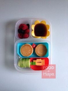 Pancakes packed for a fun school lunch! | packed in @EasyLunchboxes