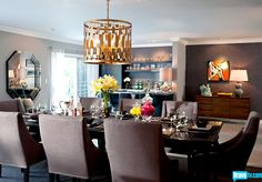 Check out the after shot of Cash and Kristin's dining room!