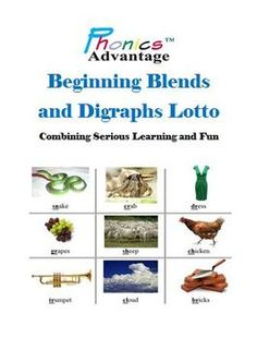 In a fun, game-oriented setting, students are introduced to 16 beginning consonant blends and digraphs.  The beginning blends and digraphs are prin...   # Pinterest++ for iPad #