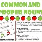 There are 16 task cards for the students to review common and proper nouns. This game would be great for small group instruction, centers, partner ...