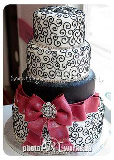 Big Bow Wedding Cake