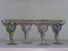 set of margarita glasses