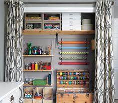 Real Simple craft closet