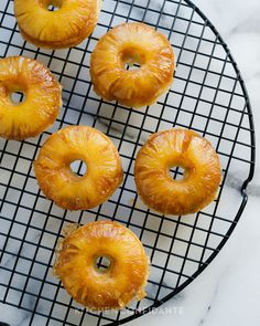 Pineapple Upside Down Cake Doughnuts YES please, love pineapple!