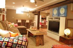 Cozy, inviting basement via Finding Home