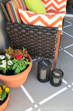 Outdoor Painted Patio
