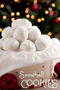 Cooking Classy: Snowball Cookies - perfect for winter and Christmas!