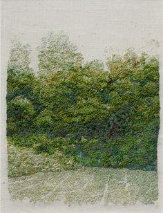 Suzy Strindberg, Embroidery, 1999 Silk, linen