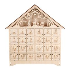 Linea woodland charm wooden advent calendar | Winter whites trend ...