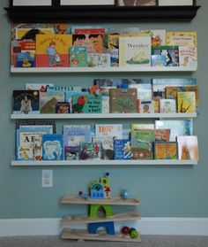 Her new book shelves.  These are from IKEA. Love them!