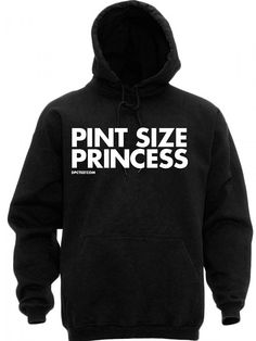 "Women's ""Pint Size Princess"" Hoodie by Dpcted Apparel (Black) #InkedShop #hoodie #Hoody #princess #pintsized #style #fashion #womenswear #outerwear"
