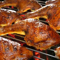 These grilled chicken legs are great on the BBQ or grilled in the oven.. Grilled Chicken Legs  Recipe from Grandmothers Kitchen.