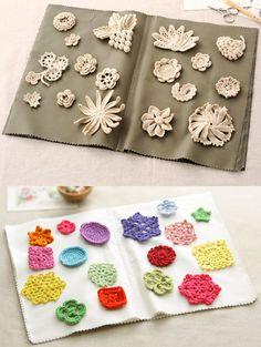 crochet motif samplers