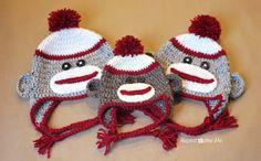 Repeat Crafter Me: Crochet Sock Monkey Hat Pattern