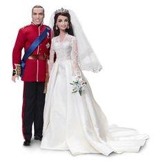 Barbie William And Catherine Royal Wedding Giftset