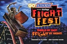 FRIGHT-FEST! AMUSEMENT ATTRACTION! VIRTUAL VACATION! Six Flags Great America Fright Fest Trip 9-29-2013 (Chills By Night) | Jerry's Hollywoo...