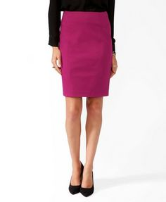 F21 Paneled skirt, berry $23.80