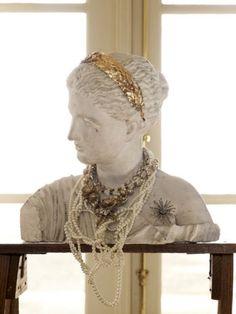 Bejeweled bust (via BHLDN) #display #dressing_room #jewelry #organization