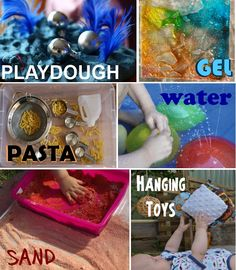 Sensory Development Activities. Repinned by playwithjoy.  For more sensory activity pins visit pinterest.com/playwithjoy