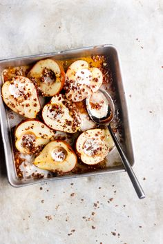Maple Baked Pears wi