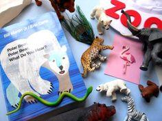 Polar Bear, Polar Bear, What Do You Hear? sack of characters idea