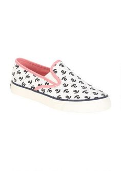 Sperry Mariner Slip-on - Sneakers - Shoes - dELiA*s Pink slip ons with anchors