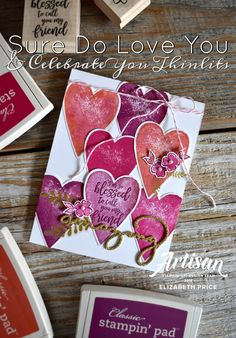 Sure Do Love You Stamp Set, Celebrate You Thinlits, Stampin' Up!, Seeinginkspots