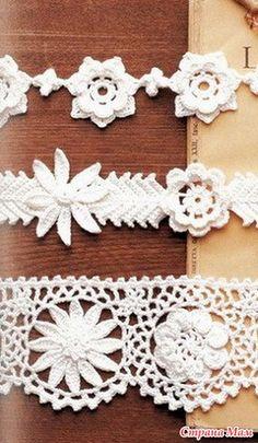 Три вида цветочной каймы - Все в ажуре... (вязание крючком) - Страна Мам