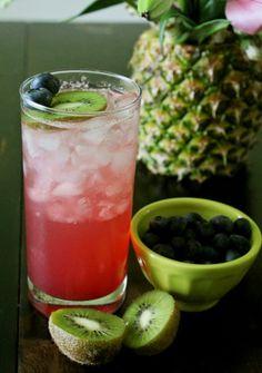 Blueberry Kiwi Mango Summer Drink