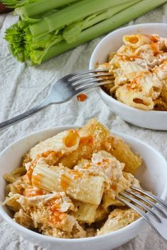 Recipe: Buffalo Chicken Pasta Bake