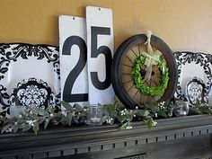 Holiday Mantel...with a little touch of junk