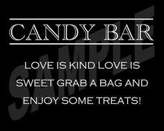 #Wedding #Candy Bar/Buffet Sign or Poster DIY by WeddingsByJamie