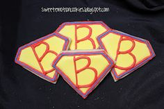 Super Man logo inspired cookies