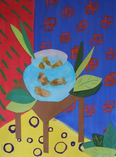 Matisse fishbowl paintings. What about using printmaking instead of painting?
