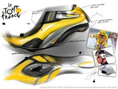 Tour Shoe Sketches via idsketching.com