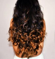 If my hair gets this long, I'm doing this dark ombré color :)