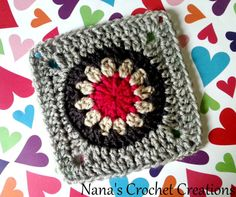 Nana's Flower In A Circle In A Square « The Yarn Box The Yarn Box
