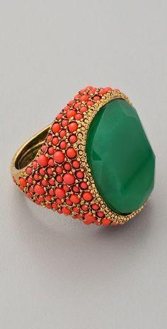 Coral & jade