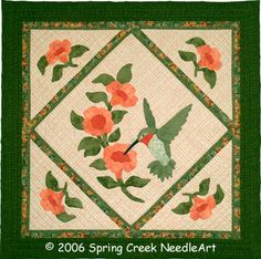Image detail for -... wall quilt applique our hummingbird wall quilt or use a 14 hoop to