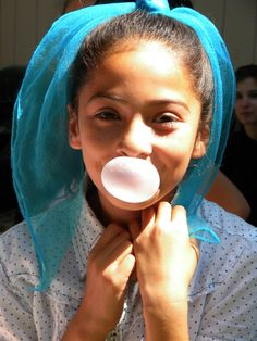 bubble blowing contest...