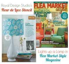 Light Up a Lampshade with a DIY Stencil Project from Flea Market Style | Royal Design Studio