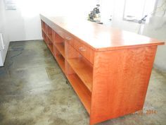 cherry cabinet, 16 feet long, from KarlsWoodworking