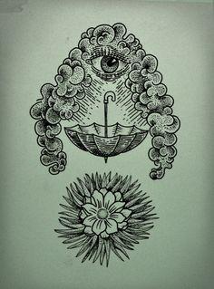 clouds, galleries, fashion, behance, flower tattoos, barbie, flowers, umbrella tattoo, eyes