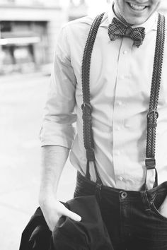 old school #style   #suspenders #bow
